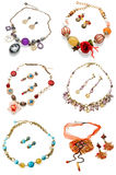 Earrings with necklace Royalty Free Stock Photography