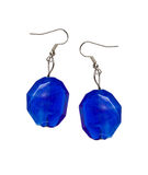 Earrings out of the blue cut-glass Royalty Free Stock Photo