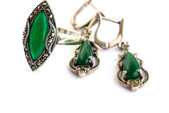 Earrings and ring Royalty Free Stock Photos