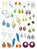 Earrings stock illustration