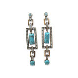 Earrings with turquoise stock photos