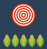 Ears of corn. Target business concept stock illustration