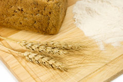 Ears, flour, bread Royalty Free Stock Image