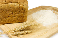 Ears, flour, bread Royalty Free Stock Photo