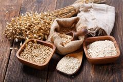 Ears of oat, cereals and grains royalty free stock photography