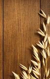Ears of oat on wood Royalty Free Stock Photos