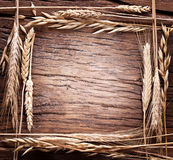 Ears Of Wheat Made As Frame. Royalty Free Stock Photography