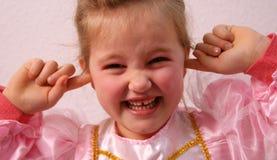 Ears of a Princess. Little princess is keeping her ears shut Stock Image