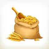 Ears and wheat bag, vector illustration Royalty Free Stock Image