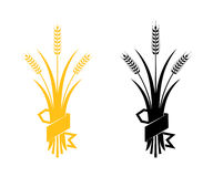 Ears of Wheat, Barley or Rye vector visual graphic icons Stock Image