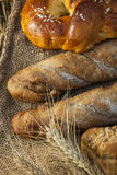 Ears of wheat and bread Stock Images