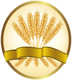 Ears of wheat and ribbons. Stock Image
