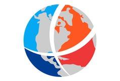 Eart-Kugel-Weltlogo lizenzfreie abbildung