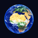 Earth. Globe, Africa and Europe, high resolution image Stock Photos