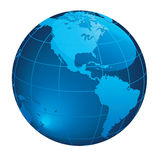 Earth. Glossy Blue Earth Vector EPS Royalty Free Stock Photo