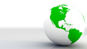 Earth. A white and green earth on a plane Stock Photo