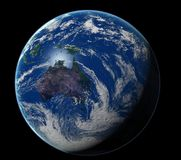 Earth. 3d photorealistic earth made by me stock illustration