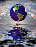Earth. High Resolution Earth over Water Vector Illustration