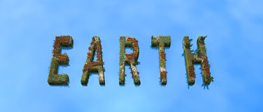 Earth. Nature plants banner EARTH - 3d illustration Royalty Free Stock Images