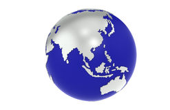 The Earth. Silver and Blue Royalty Free Stock Photos