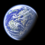 The Earth. Computer generated image of planet Earth (view from space orbit satellite Royalty Free Stock Photos