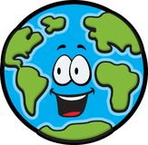 Earth. A blue and green smiling Earth Stock Image