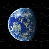 Earth. Bright earth planet on puzzle Stock Photos