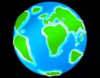 Earth. Drawing of earth, www.marekcartoon.com Stock Illustration