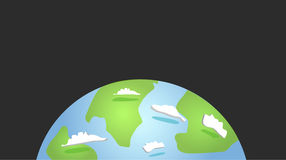 Earth. On a grey bg Royalty Free Stock Image