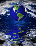 Earth. High Resolution Earth over water Royalty Free Illustration