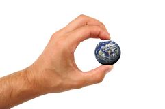 Earth. Man holding earth Stock Images