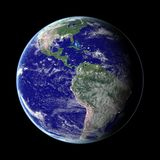 Earth. From space. (With clipping path) (Computer generated image. Image map used from open NASA archive stock illustration
