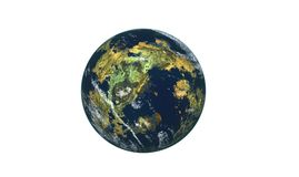Earth. 3d rendered earth used flaming plugin to make this Royalty Free Stock Photo