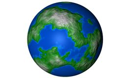 Earth. A plastic looking earth designed in ciema 4d Stock Photography