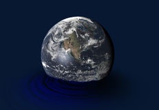 Earth. Under floods, concept of climate change Stock Photo