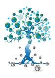 Earth. Cartoon tree on white background Stock Image