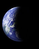 Earth. In outer space on black background Royalty Free Stock Image