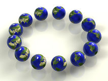 Earth 3d Royalty Free Stock Photos