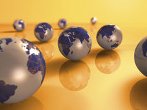Earth 3d. Concept illustration background Royalty Free Stock Photography