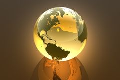 Earth, 3d illustration. Earth in abstract 3d illustration Stock Image
