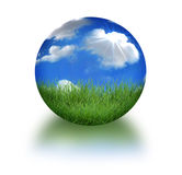 Earth in 3D Landscape Conceptual Format Stock Photography