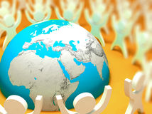 Earth 3d people Royalty Free Stock Image