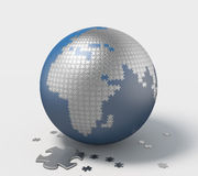 Earth, 3D Puzzle Stock Photos