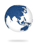 Earth in 3d view. Asia and Oceania lands. Illustration of the earth in 3d view. Asia and Oceania lands Royalty Free Stock Photo