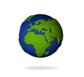 Earth in 3d view. Europe and African lands. Royalty Free Stock Photo