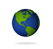 Earth in 3d view. North and south America lands. Illustration of the earth in 3d view. North and south America lands Stock Photo
