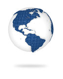 Earth in 3d view. North and south America lands. Illustration of the earth in 3d view. North and south America lands Stock Photos
