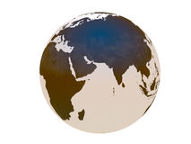 Earth. Globe over white background Royalty Free Stock Images