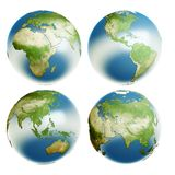 Earth_4view Foto de Stock Royalty Free