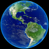 Earth. With blue glow isolated on black Royalty Free Stock Photo